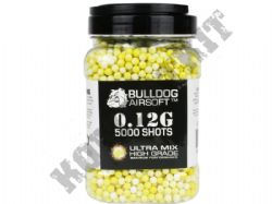 5000 x 6mm x 12g Yellow White Ultra Mix Polished Airsoft BB Gun Pellets